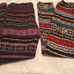Two pair of winter legging